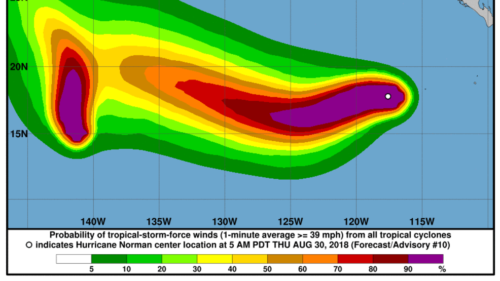 Norman Grows Into Category 4 Hurricane In Pacific